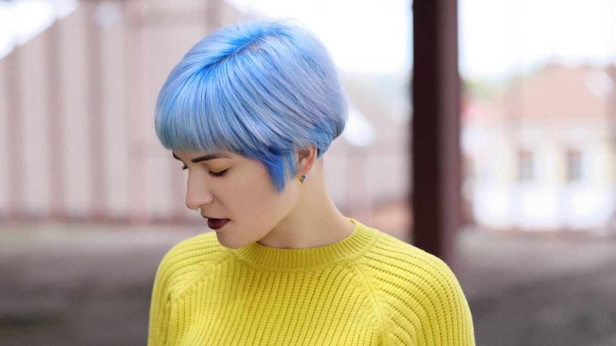 Super Blauwe haarkleuring die permanent is en kleurspoelingen om een GK-82