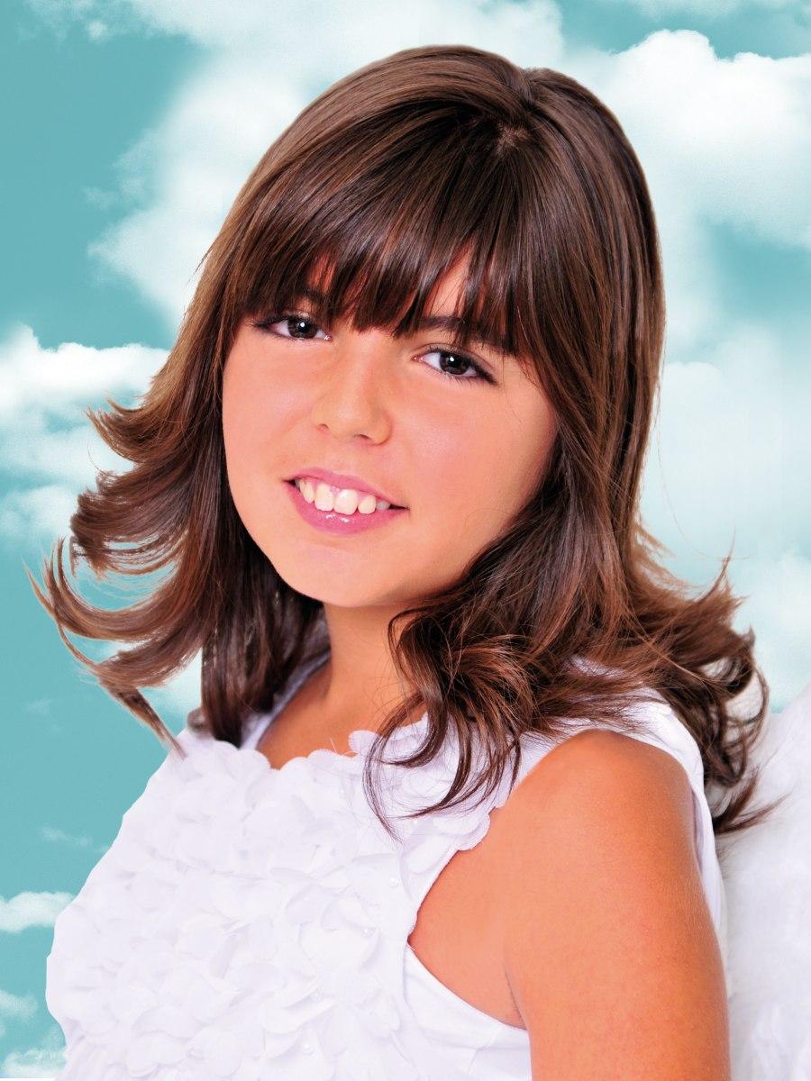 Makkelijk lang kapsel met lagen voor jonge meisjes en tieners - Tiener meisje foto ...