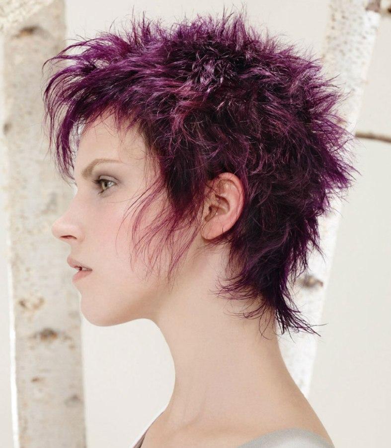 Purple pixie cut